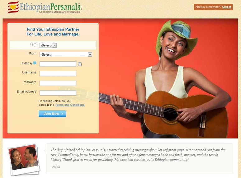 ethiopian personal dating site